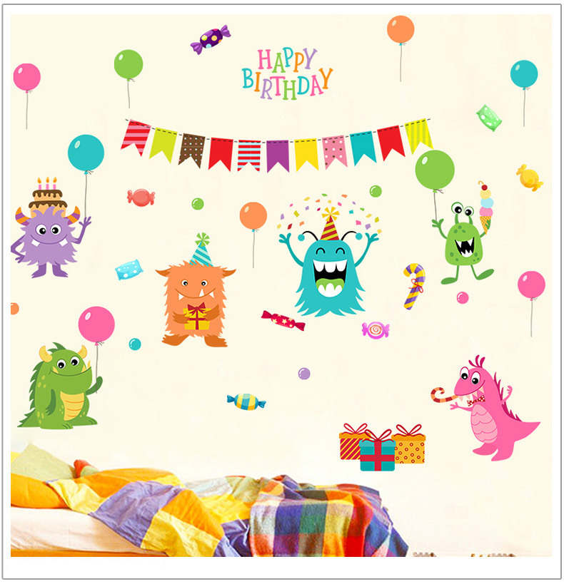Decal Dán Tường Happy Birthday