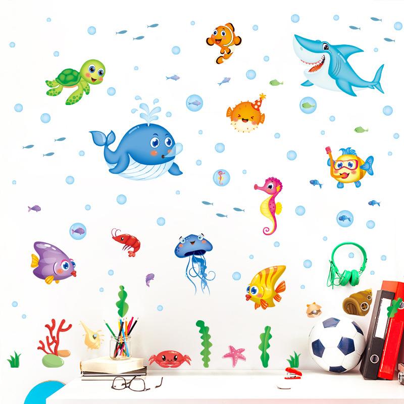 Decal Dán Tường Các Loài Cá Đại Dương 2