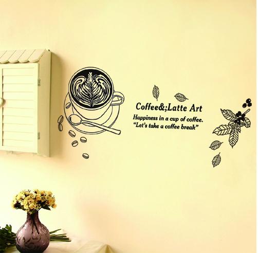 Decal Dán Tường Coffee & Latte Art
