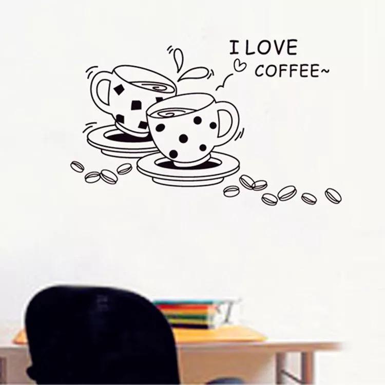 Decal Dán Tường Coffee Love