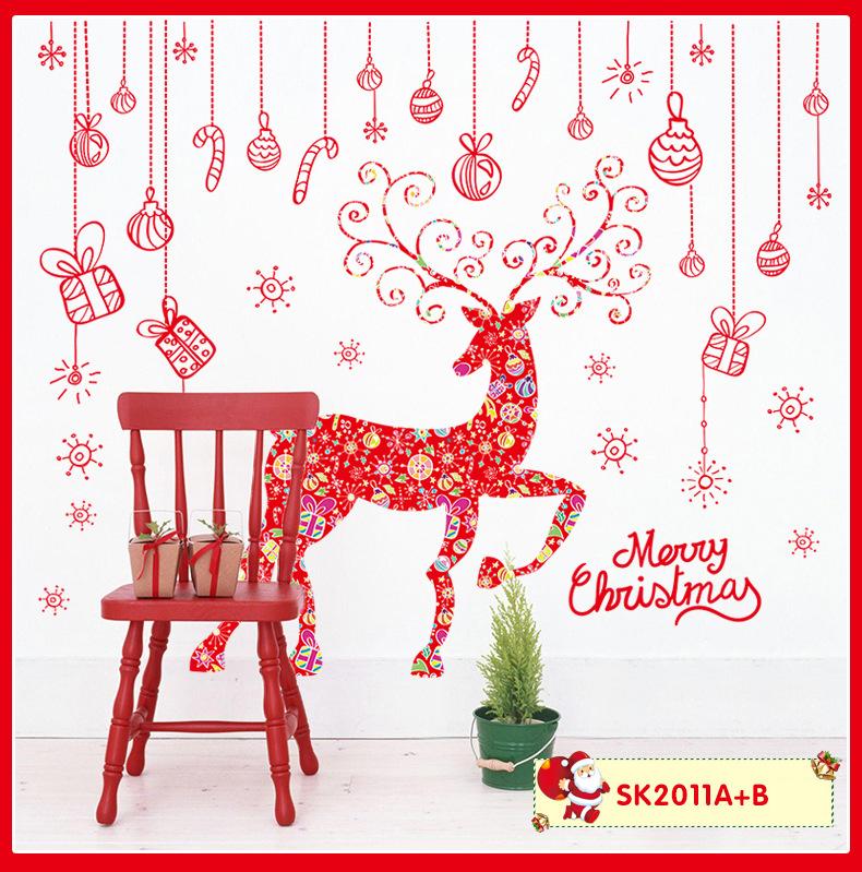 Decal Giáng Sinh Tuần Lộc Đỏ