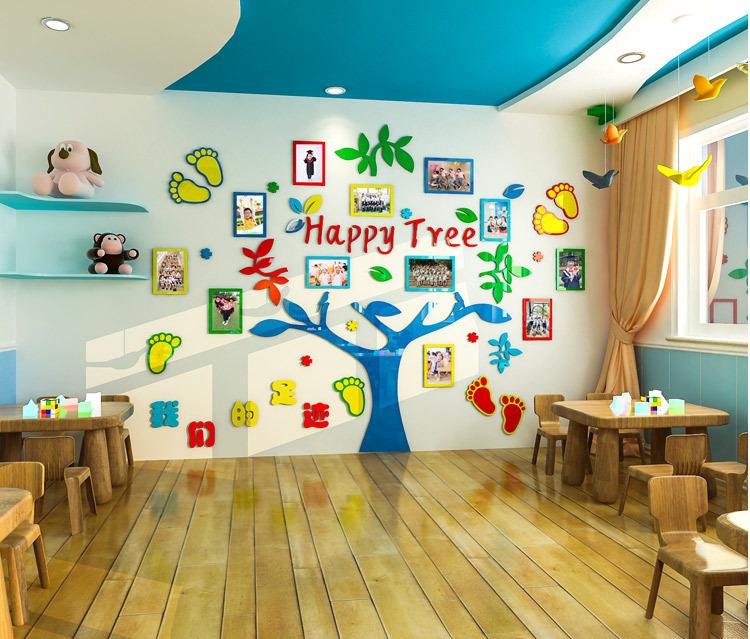 Tranh Mica Dán Tường Happy Tree