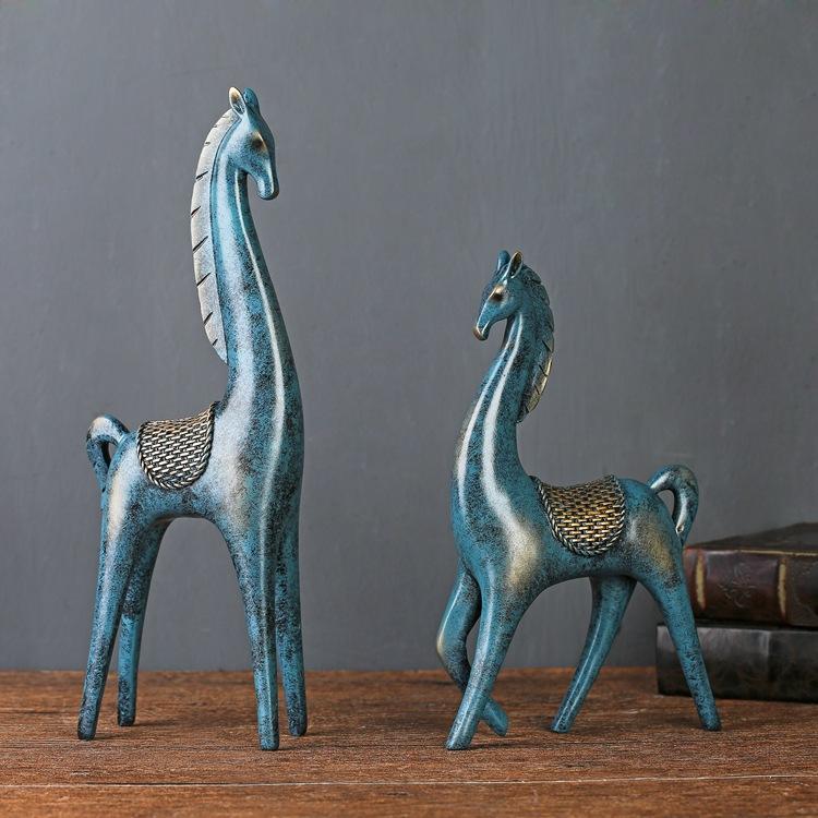 Đôi Ngựa Trang Trí ( Màu xanh)