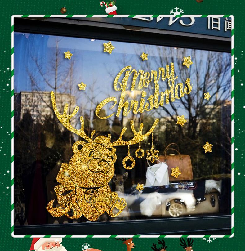 Decal Noel 2021 – Tuần Lộc Nhũ Vàng – DGS85