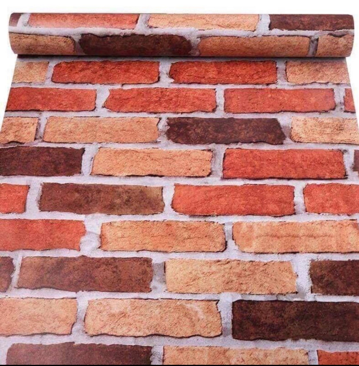 10m Giấy Dán Tường Giả Gạch 13