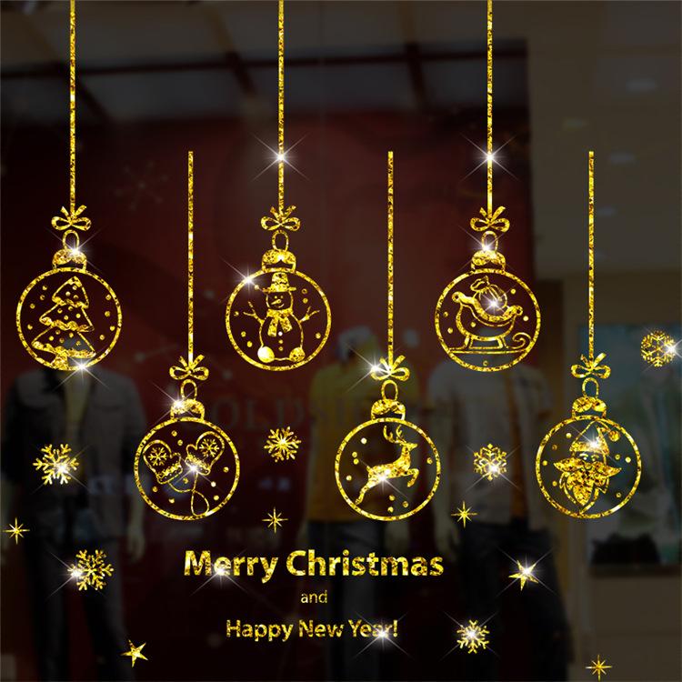 Decal Dây Treo Giáng Sinh Nhũ Vàng – DGS43