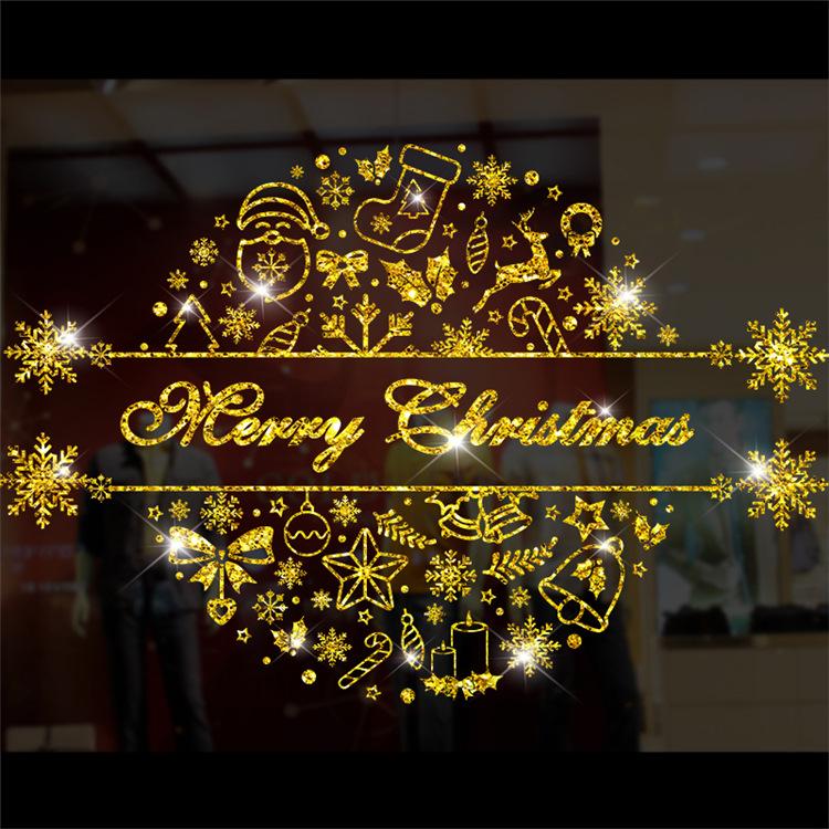 Decal Merry Christmas Nhũ Vàng – DGS46
