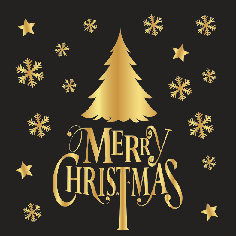 Decal Cây Thông Noel Vàng – DGS52
