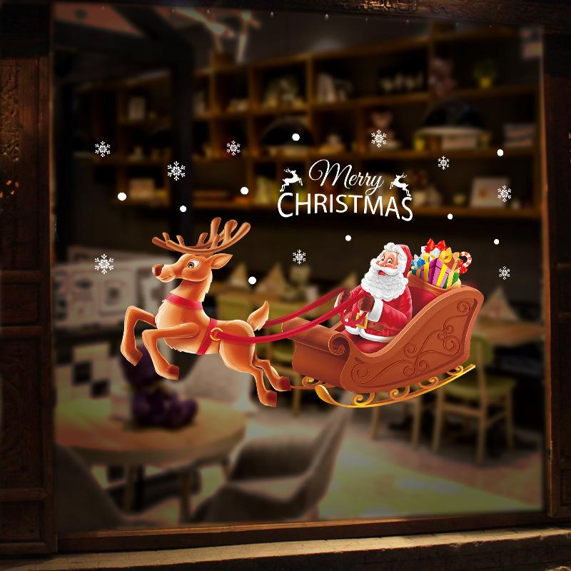 Decal Noel 2021 – Ông Già Noel Đi Phát Quà – DGS80