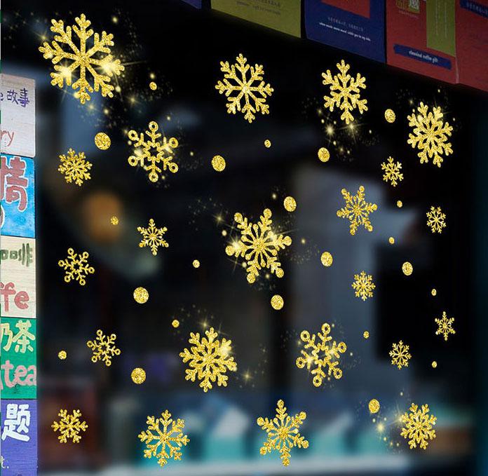 Decal Noel 2021 – Bông Tuyết Phủ Nhũ