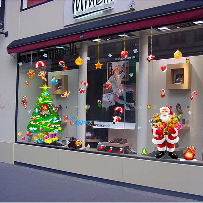 Decal Noel 2021 – Ông Già Noel Và Cây Thông Noel