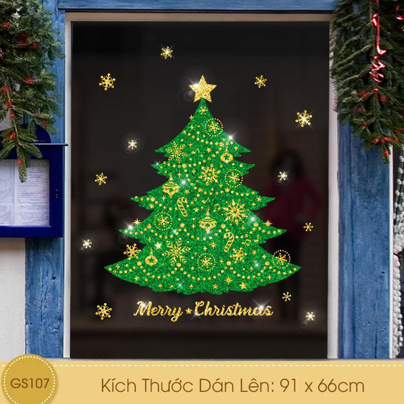 Decal Giáng Sinh Cây Thông Xanh