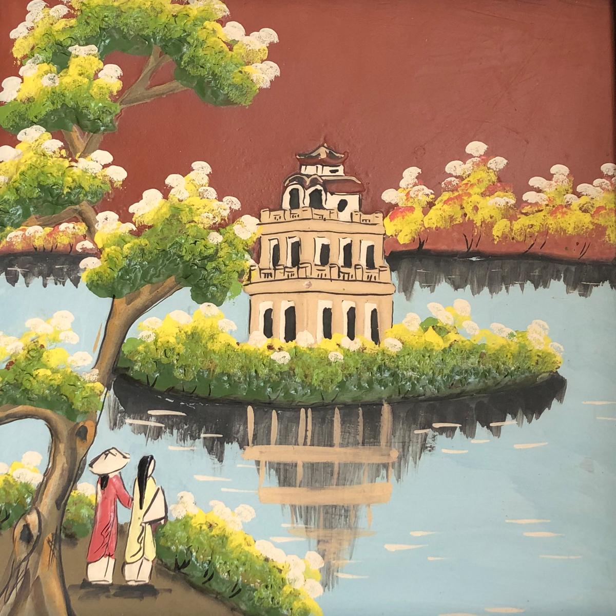 Tranh Gốm Bát Tràng – Hồ Gươm